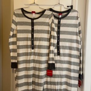 Matching adult onesies size small and large